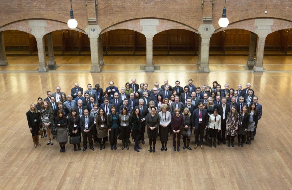 AMSTERDAM - Vergadering van de ERGA, Europese Commissie voor de Media in de Beurs van Berlage. FOTO EN COPYRIGHT HENRIETTE GUEST